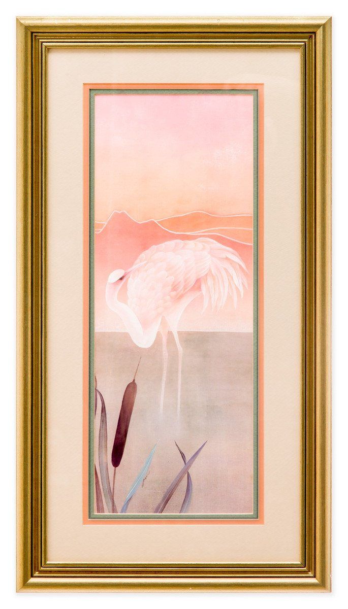 Pink Pelicans at Sunrise #3 - Fine Art Print - Framed Art - 1