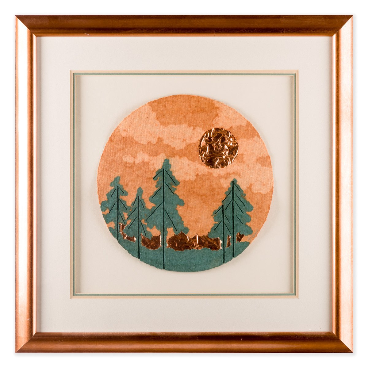 Pine Trees & Moon by Esther Grimm - Framed Art