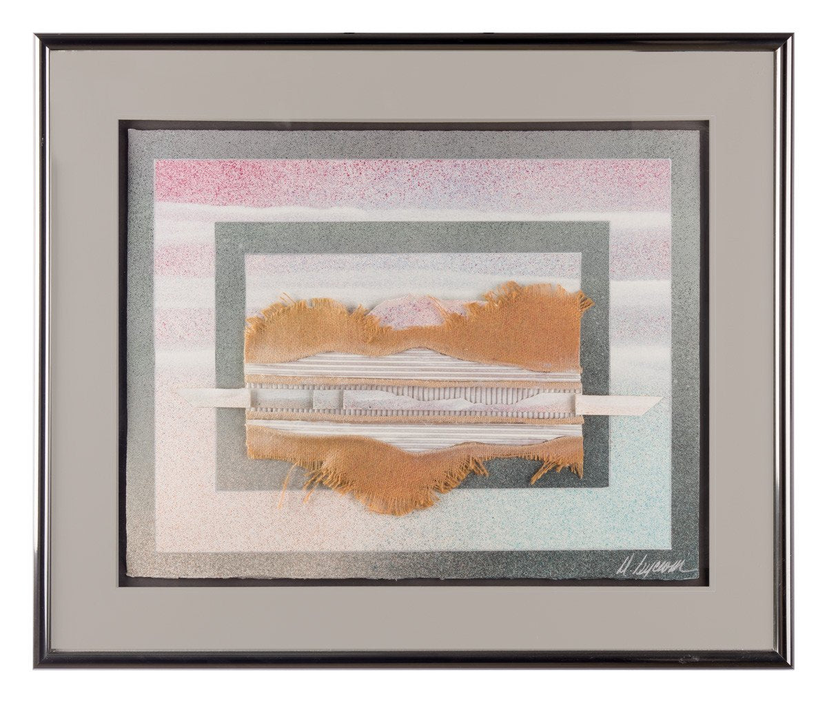 Abstract Mixed Media- Horizon - Framed Art