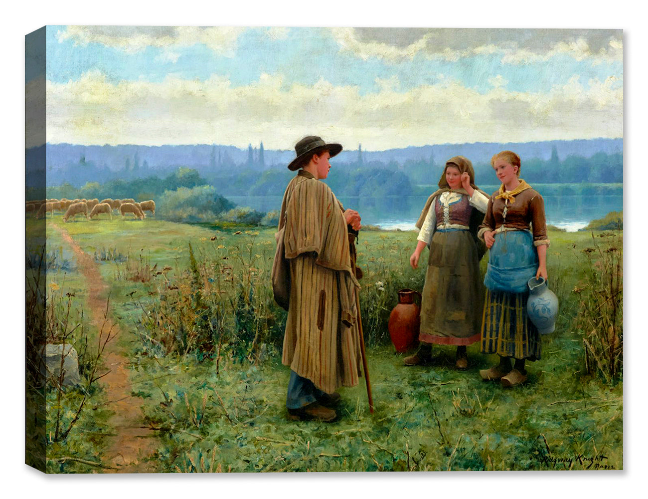 An Idle Moment by Daniel Knight - Canvas Art