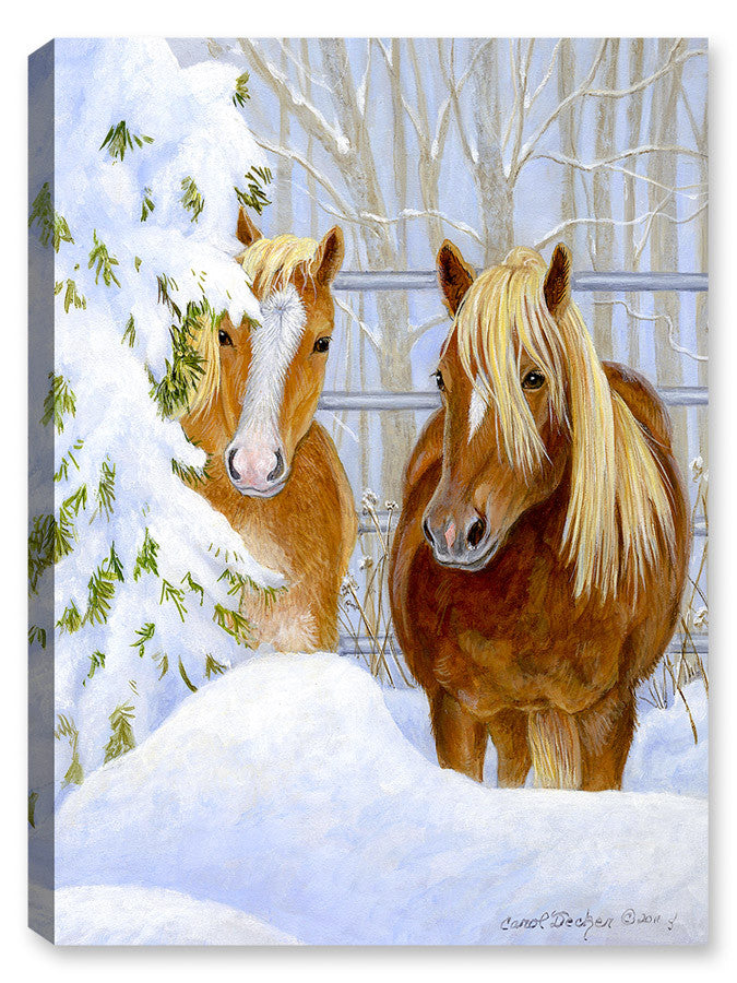 Backyard Partners - Horses by Carol Decker - Canvas Art Plus