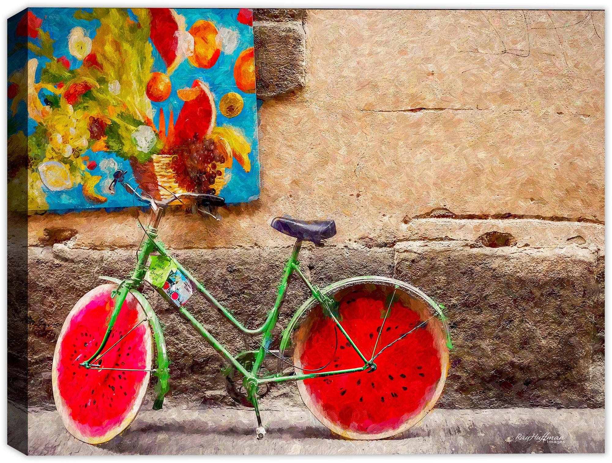 Bike for Rent Painting - Florence Italy
