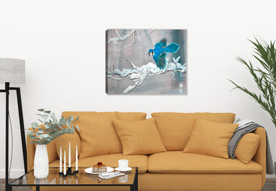 Bluejay in Winter by Carol Decker on Canvas