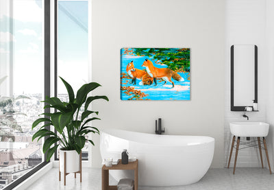 Flirt Fox Canvas Art - by Carol Decker