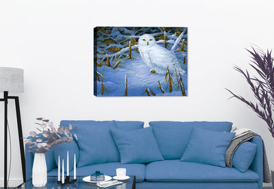 Owl Painting Hanging in Living Room