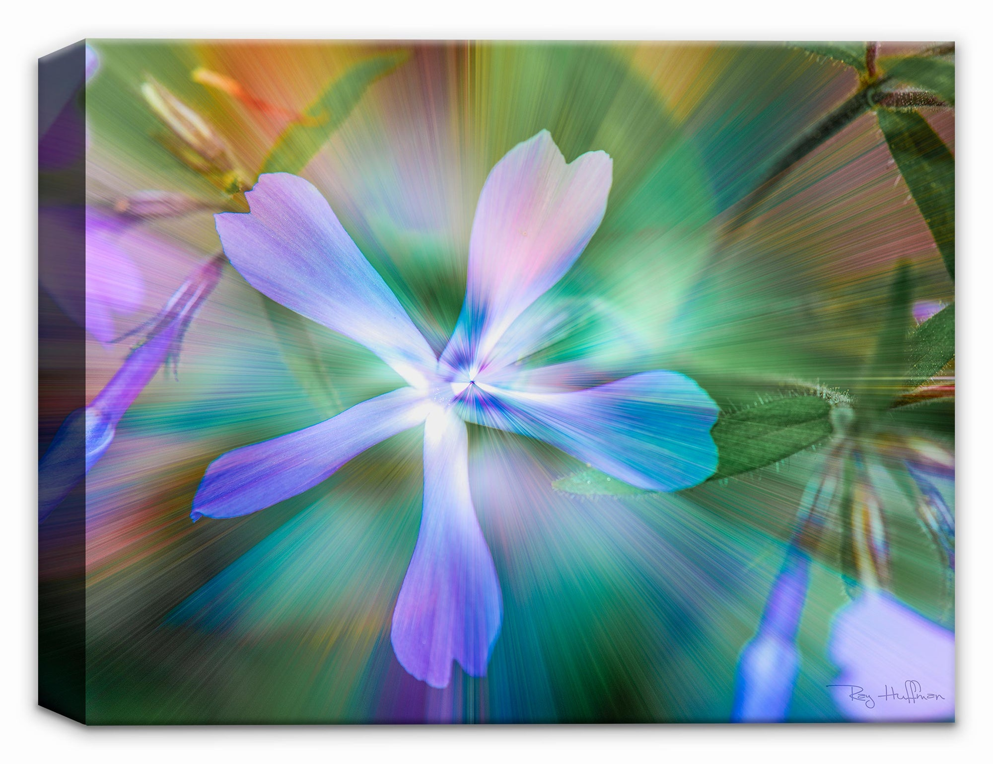 ETHEREAL PURPLE FLOWER on Canvas