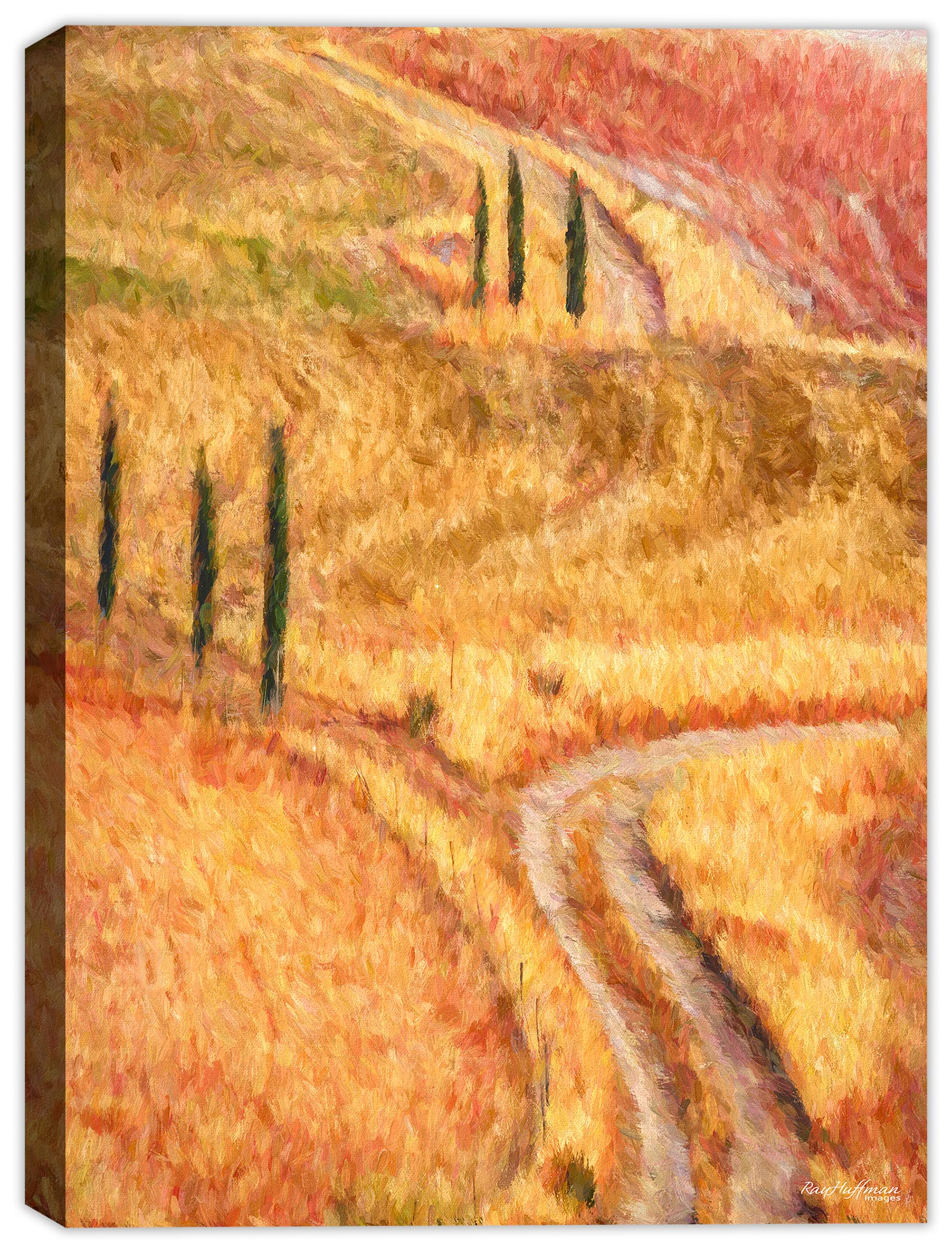 Countryside Painting Siena Italy