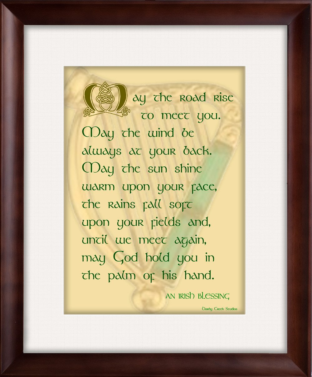 May the Road - Irish Blessing- Framed - Inspirational Art