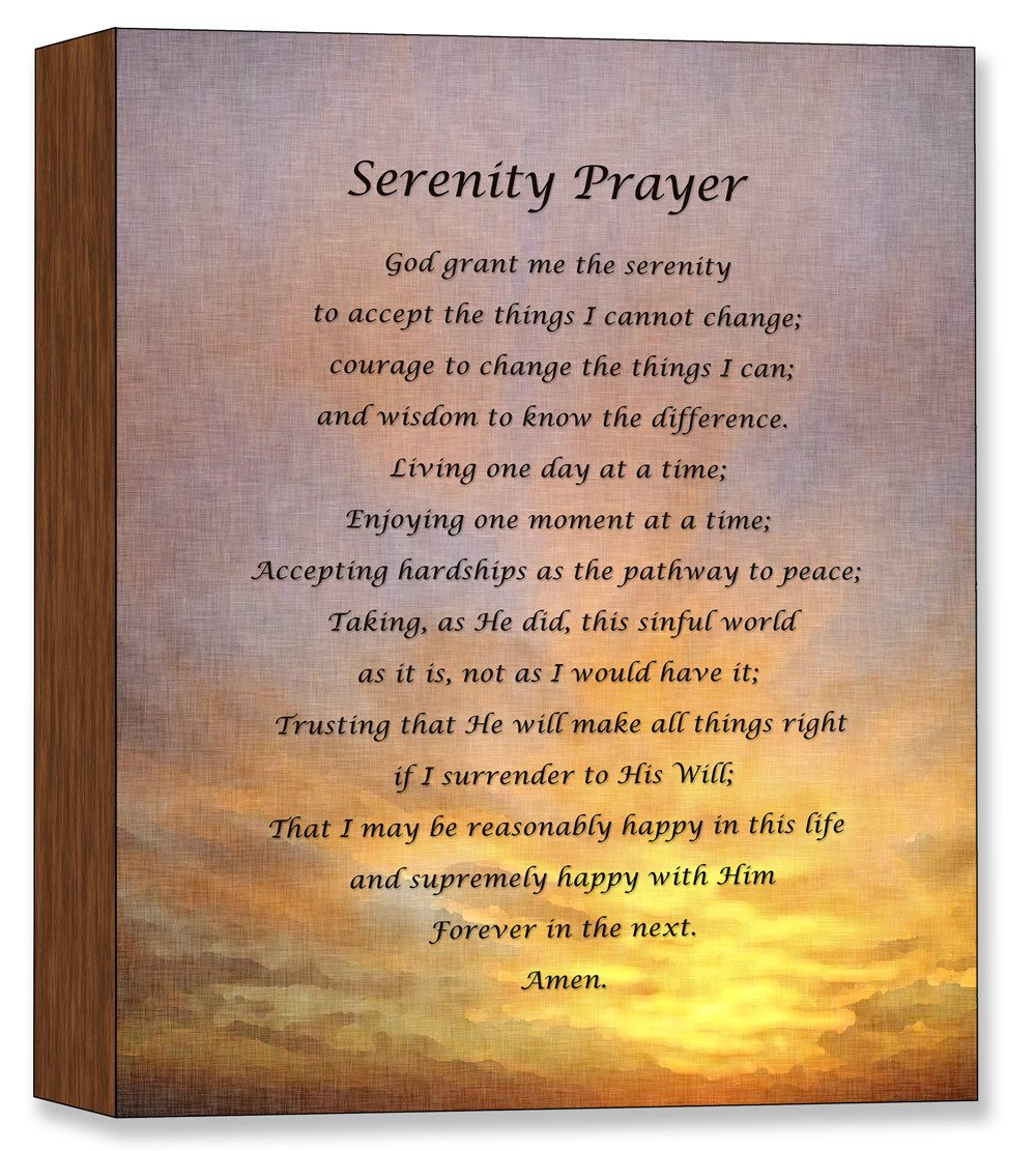 Serenity Prayer - Canvas on Birch