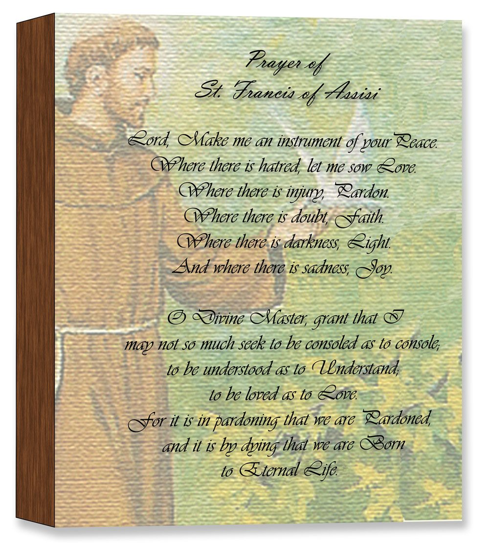 Saint Francis  Prayer - Canvas on Birch