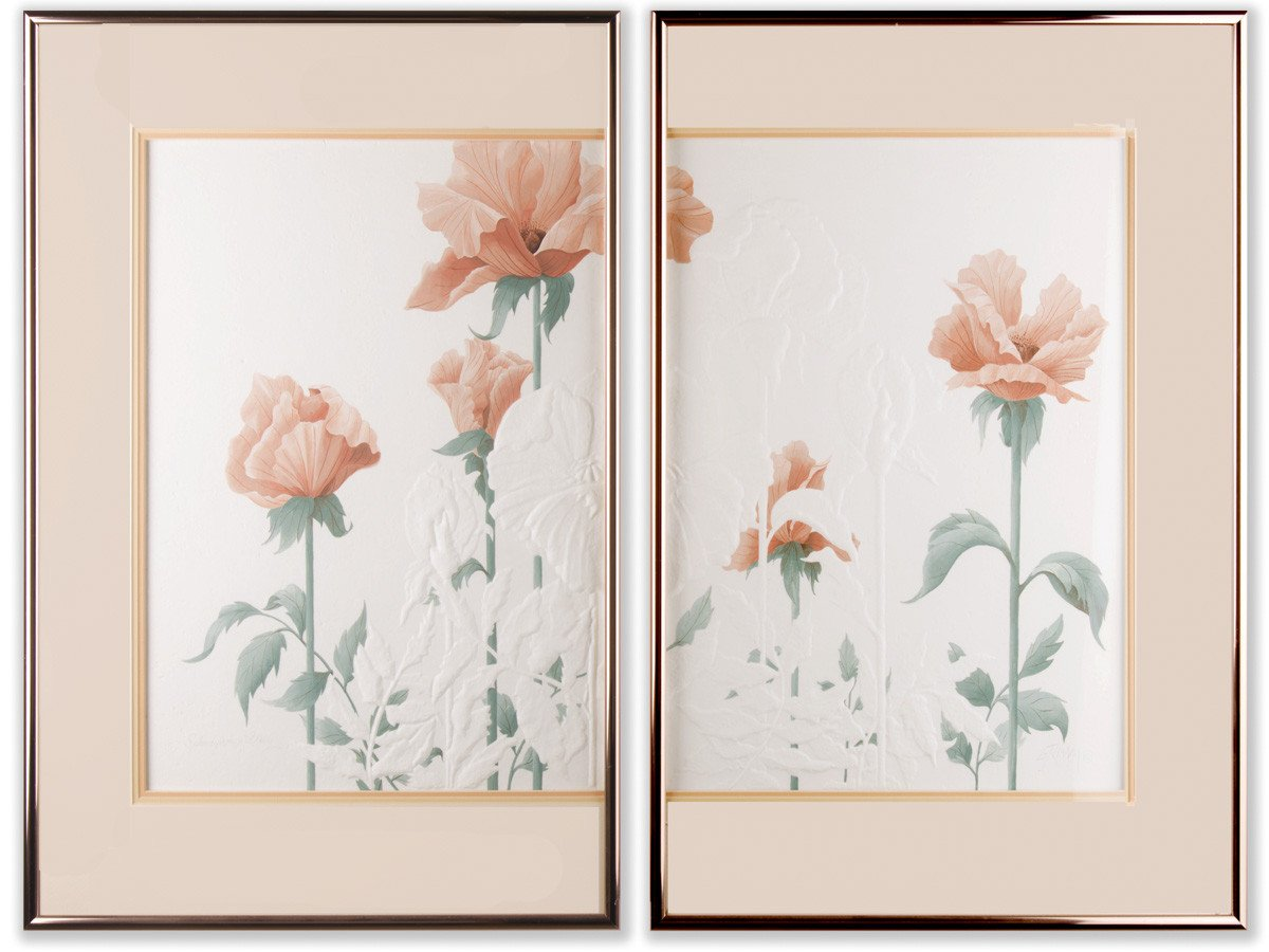 Splendiferous Array - by Esther Grimm (set of 2) - Framed Art