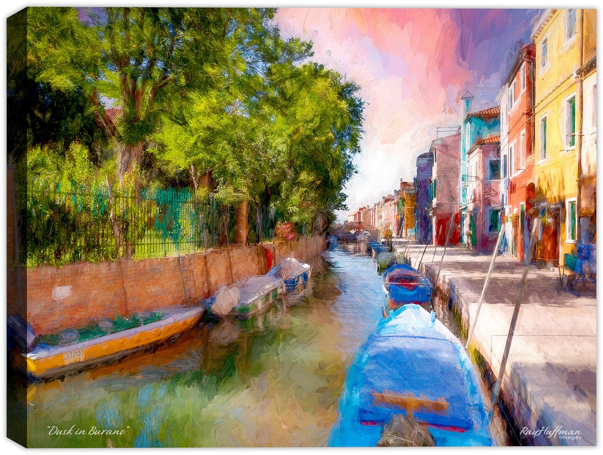 Dusk in Burano - Painting on Canvas