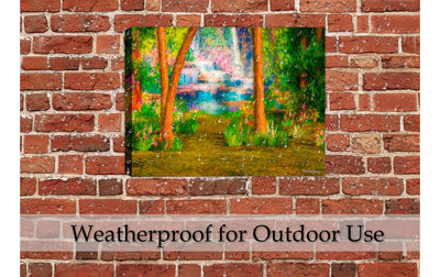 Waterproof Painting on Outdoor Patio Wall