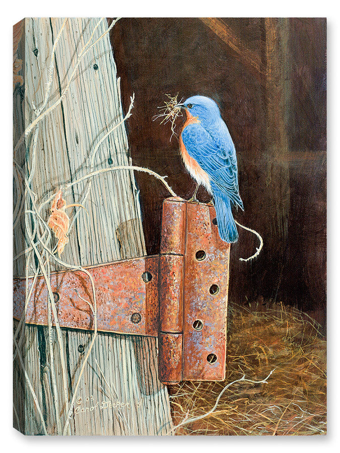 Bluebird on Family Farm - Canvas Art Plus