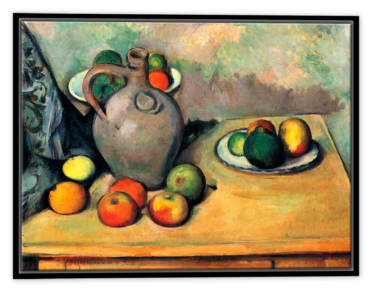 Still Life - Jug and Fruit on a Table - Fine Art - Paul Cezanne