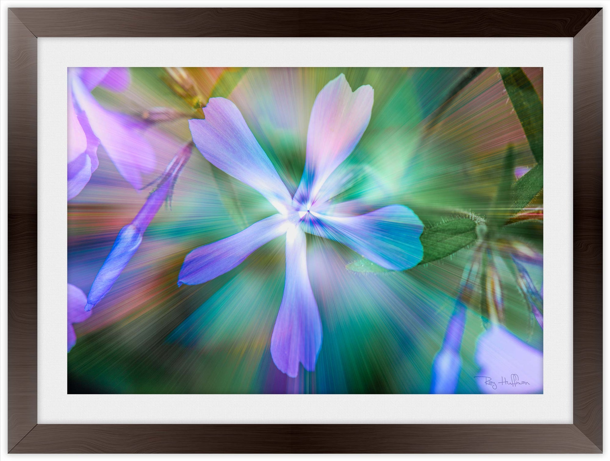 Ethereal Purple Flower - Framed Photography