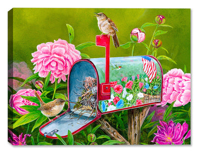 Garden Glory House Wrens by Carol Decker - Canvas Art Plus