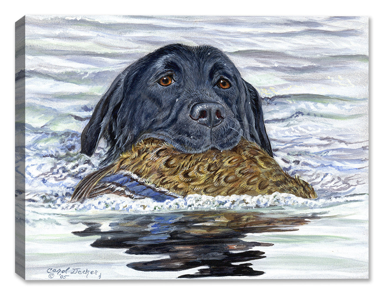 Good Boy - Black Lab by Carol Decker - Canvas Art Plus
