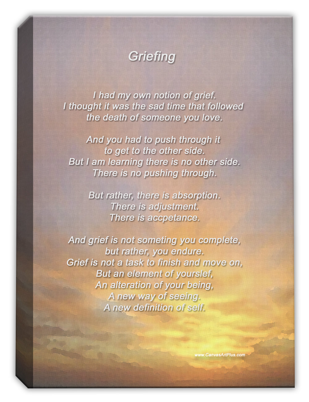 Grieving - Canvas Art Print
