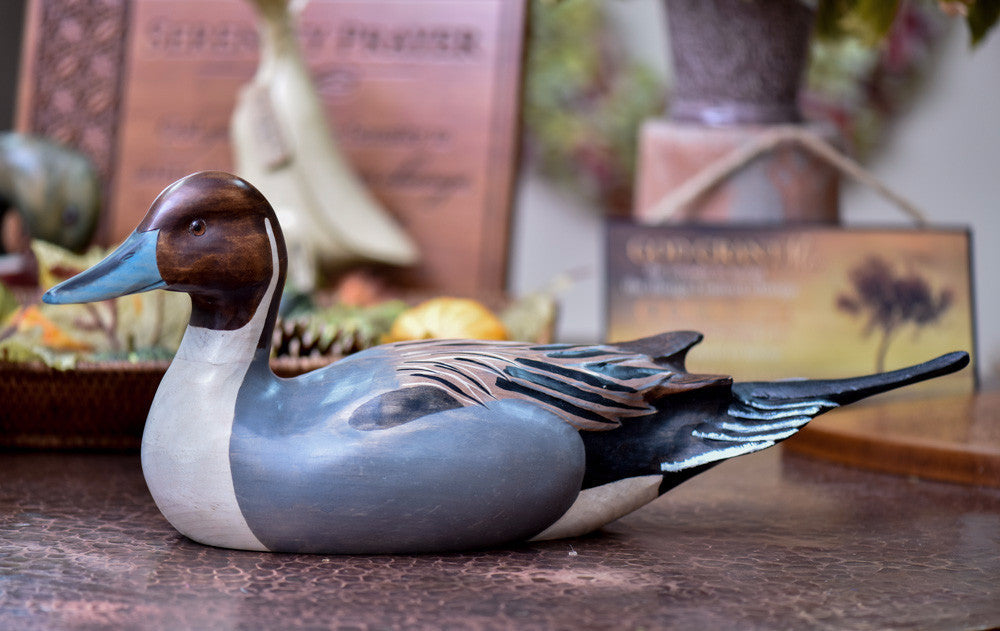 Pintail Duck - Hand Carved Waterfowl - Canvas Art Plus