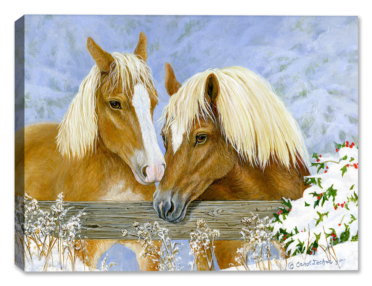 Holiday Horses by Carol Decker - Canvas Art Plus