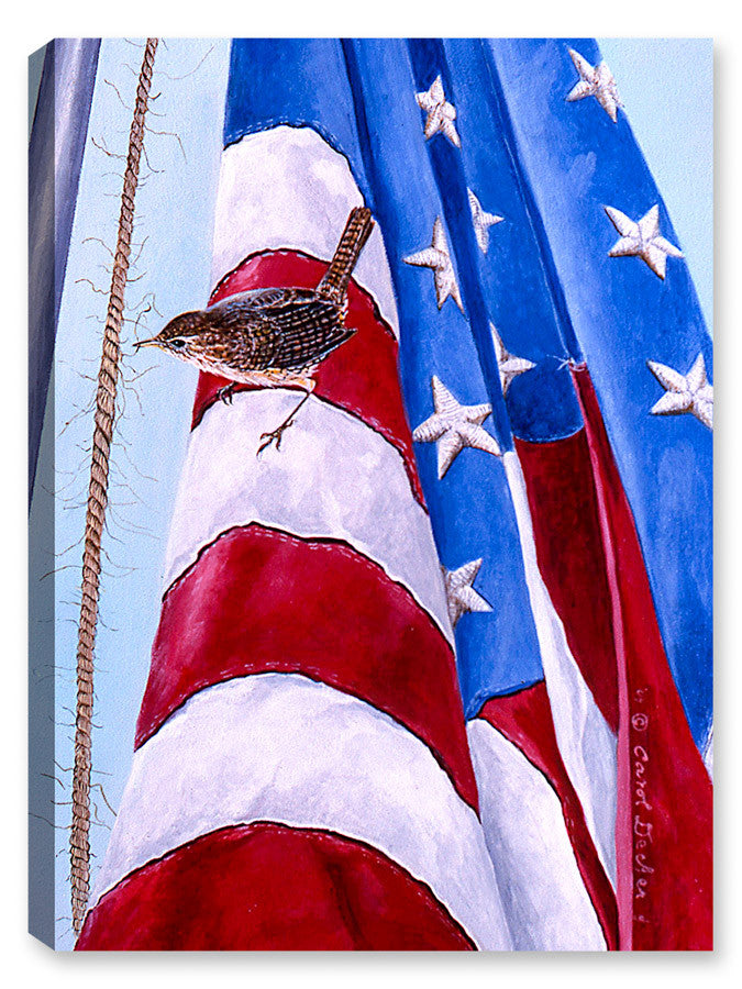 Home of the Free - Bird on Flag - Canvas Art Plus