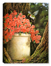 Hummingbird and Flowers - Canvas Art Plus