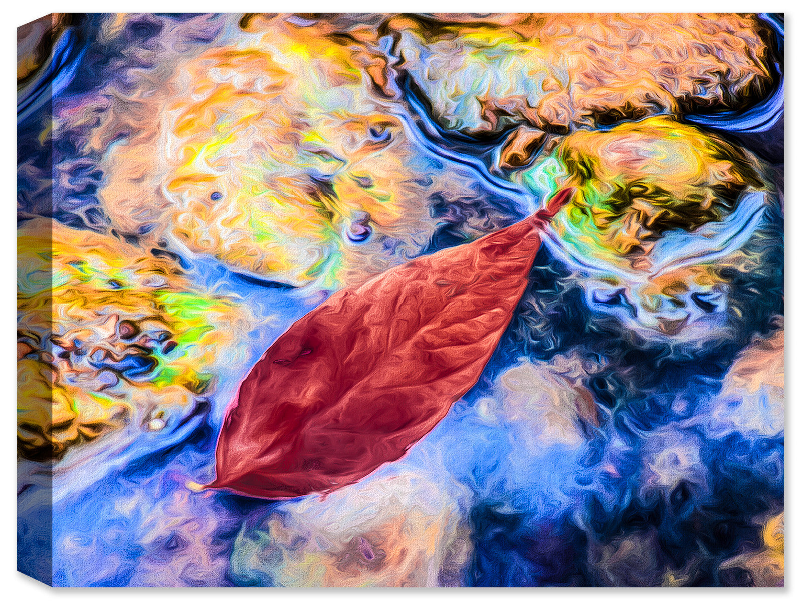 Drifting Leaf - Fine Art Canvas Print - Canvas Art Plus