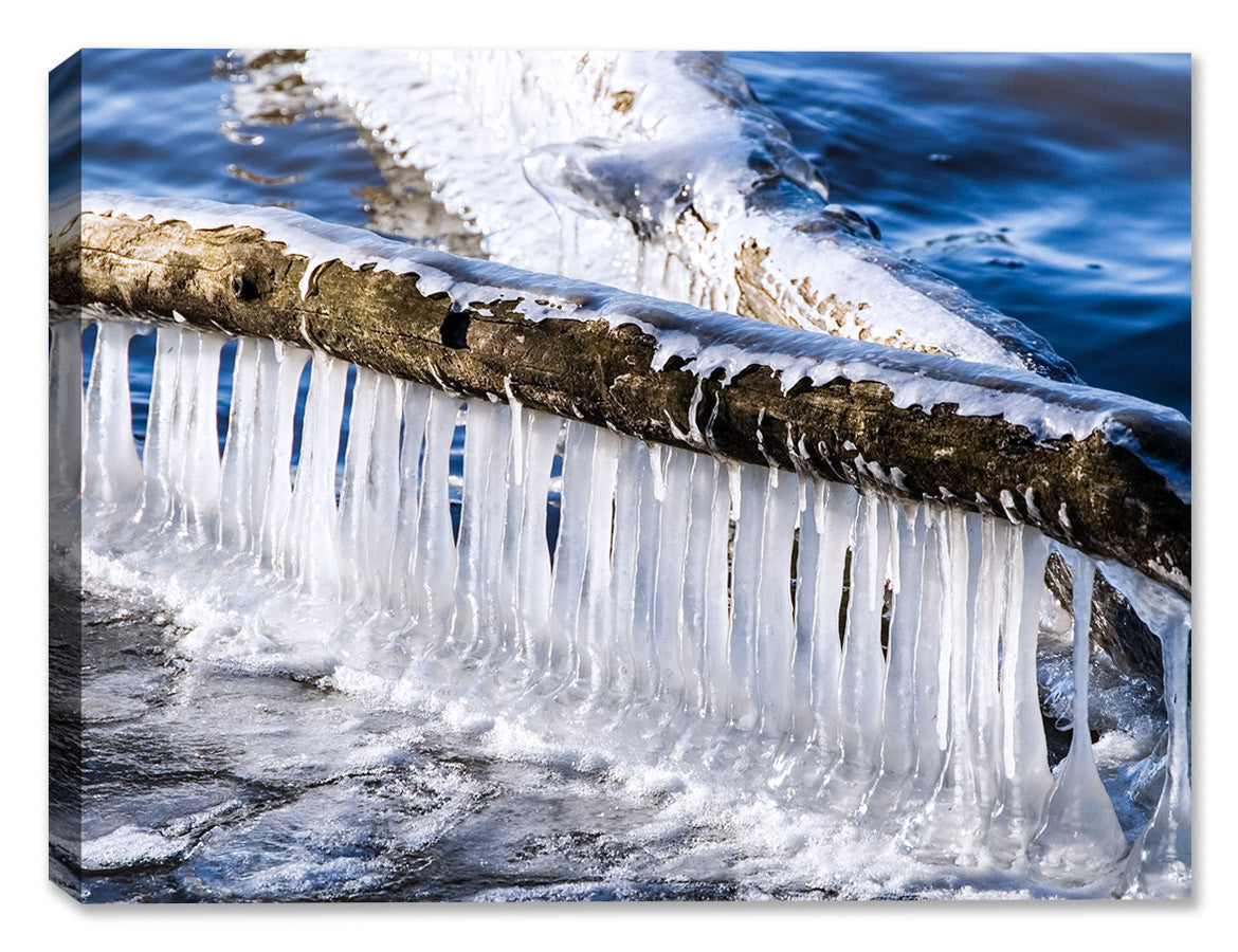 Logs and Ice - Latex on Canvas - Canvas Art Plus