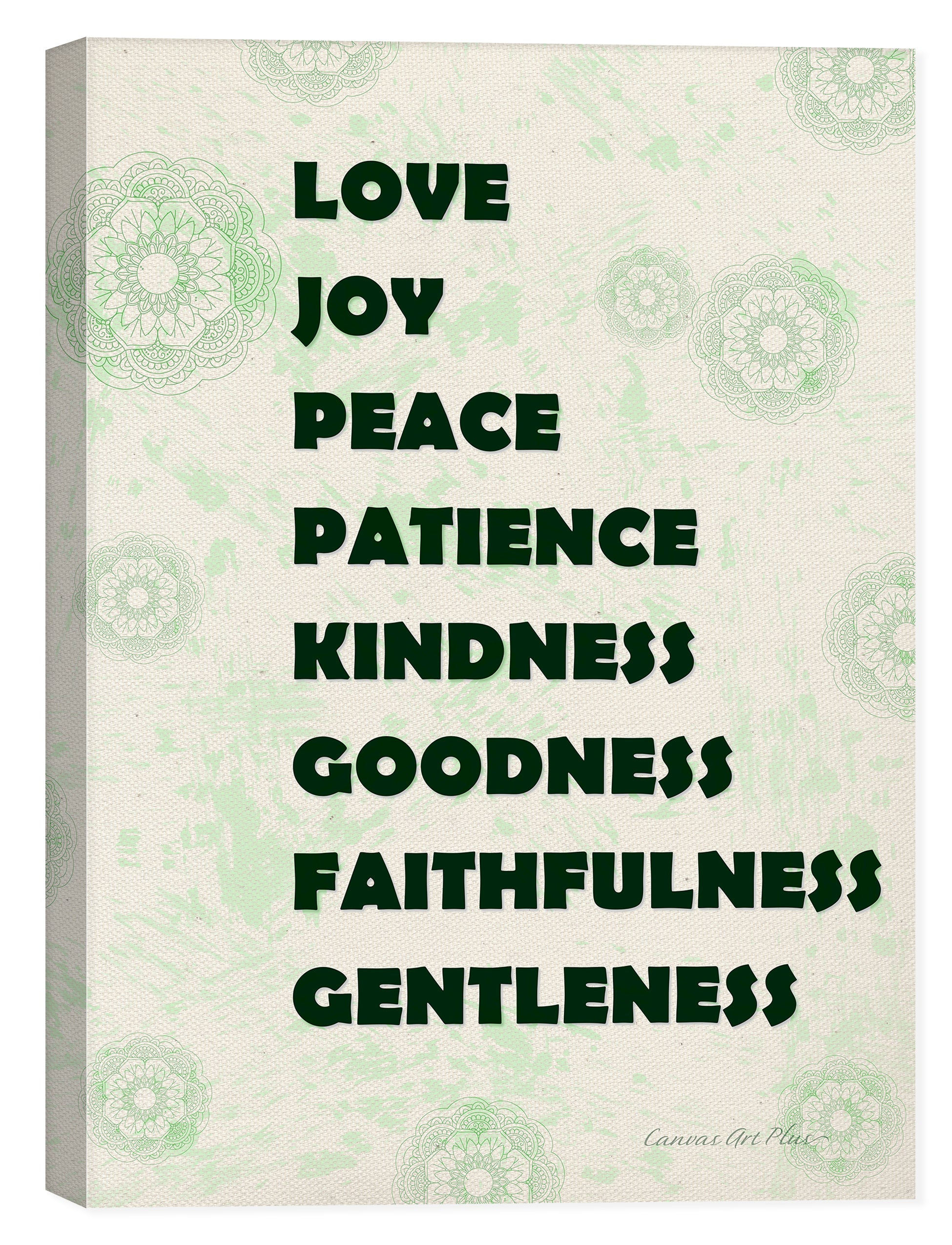 Love, Joy, Peace - Inspirational Art on Canvas