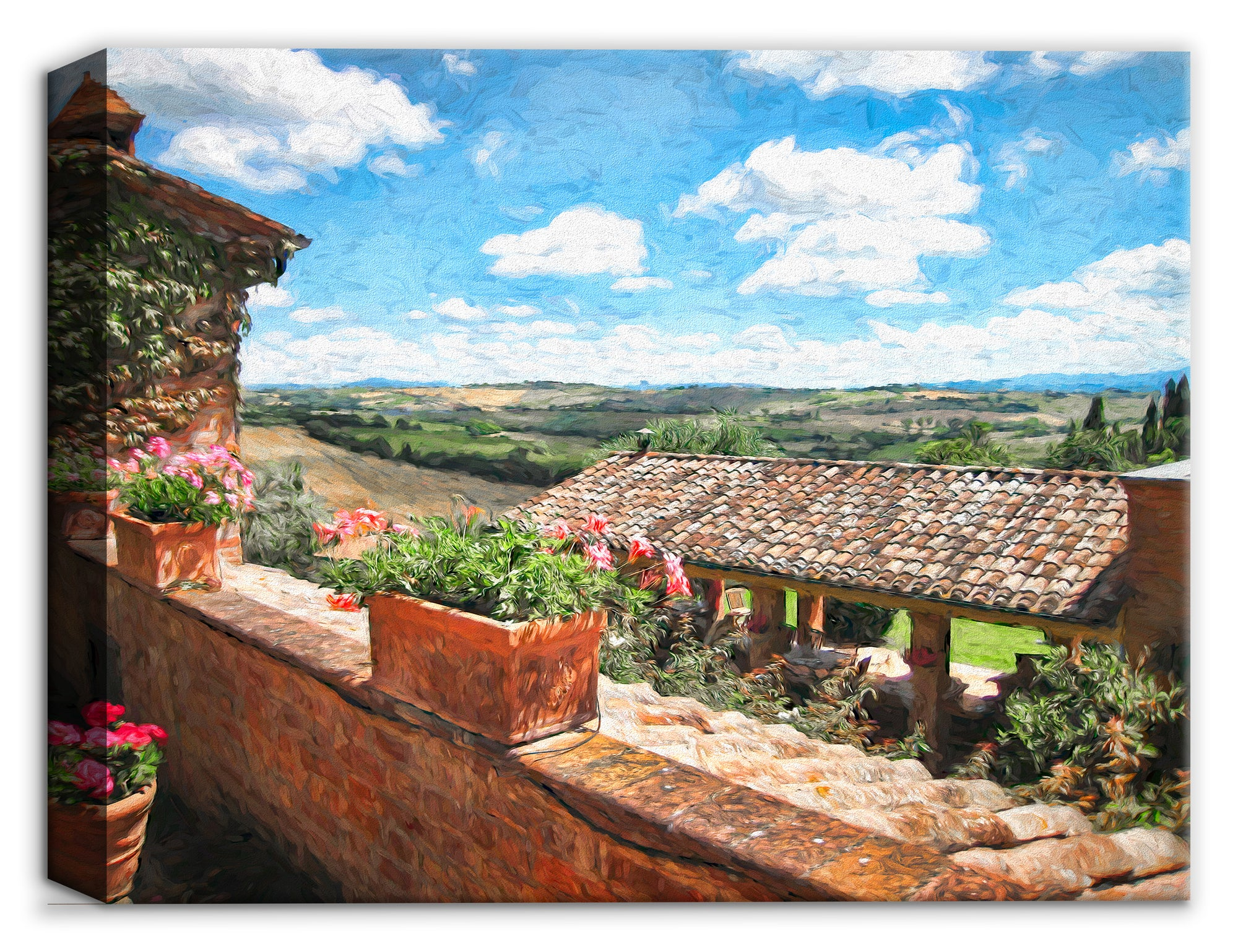 Tuscan Villa - Canvas Wall Art