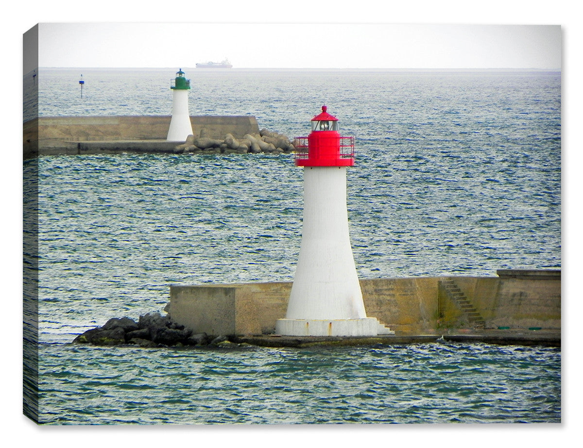 Twin Sentries (Lighthouses)-  Indoor/Outdoor Art
