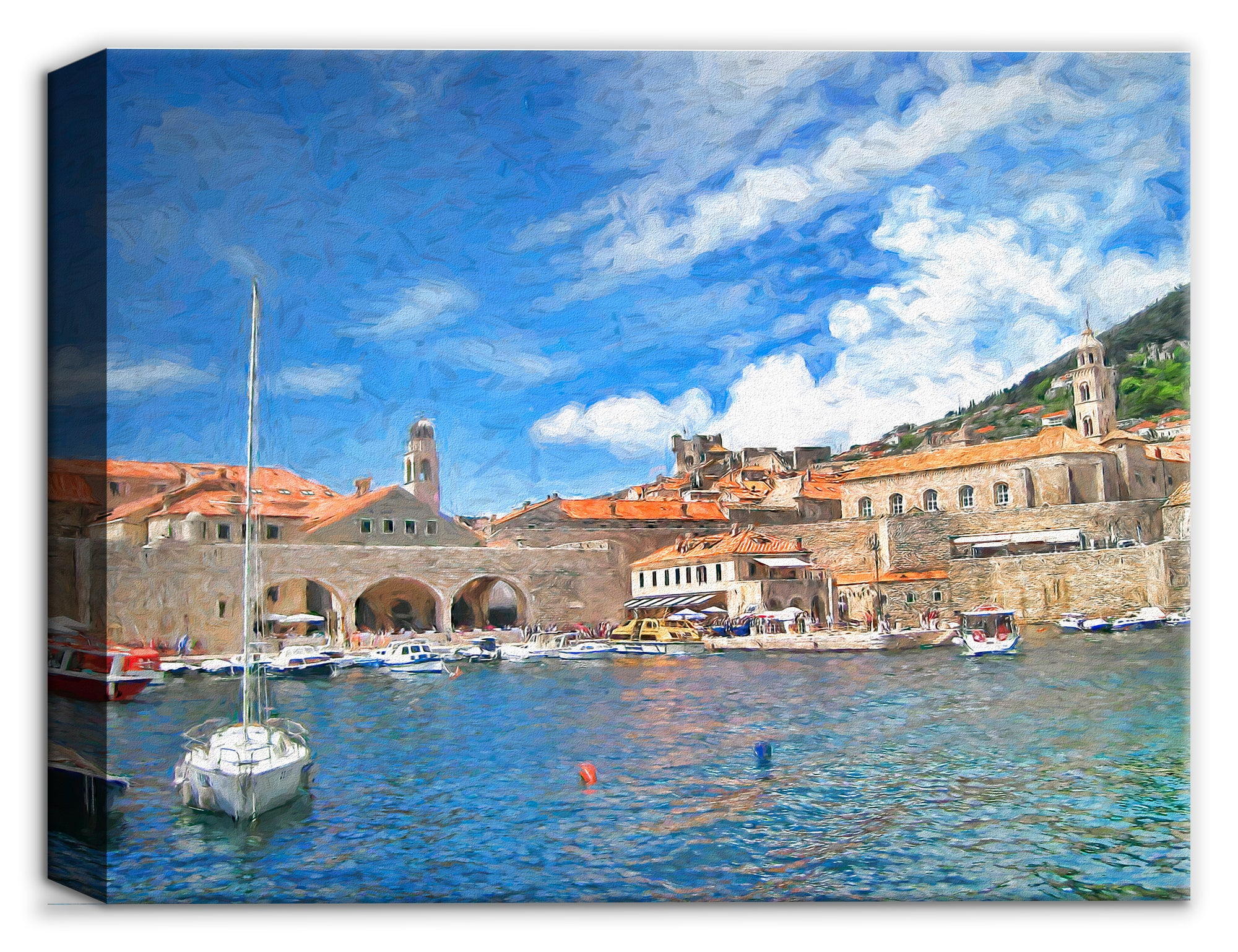 Port Dubronvnik Croatia - Canvas Art