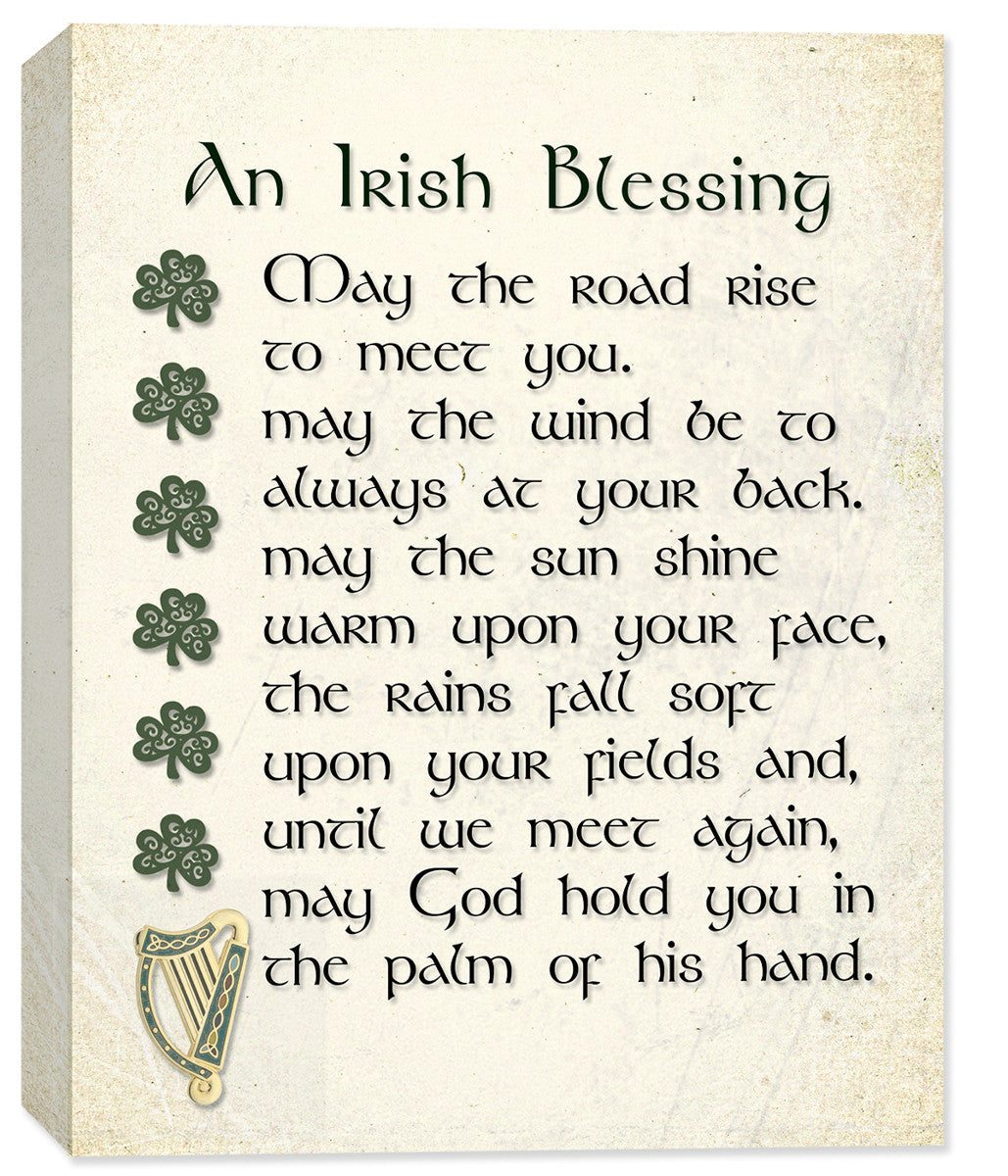 Irish Blessing Canvas Art - May the Road - Canvas Art Plus