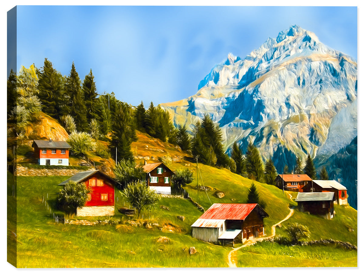 Home on the Moutain Side - Canvas Art Print - Canvas Art Plus