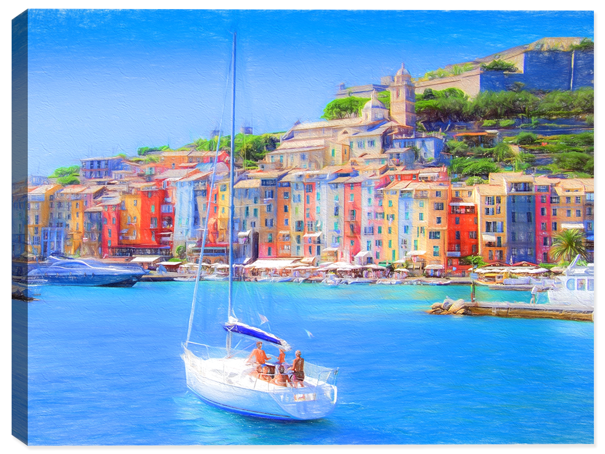 Seaside in Italy  - Canvas Art Print - Canvas Art Plus