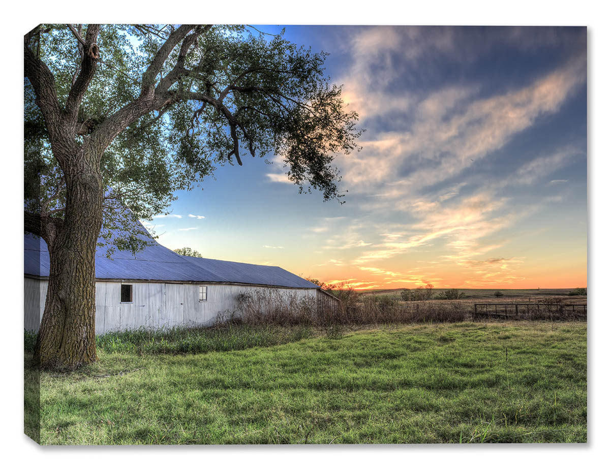 Evening Sunset on the Farm - Canvas Art Plus