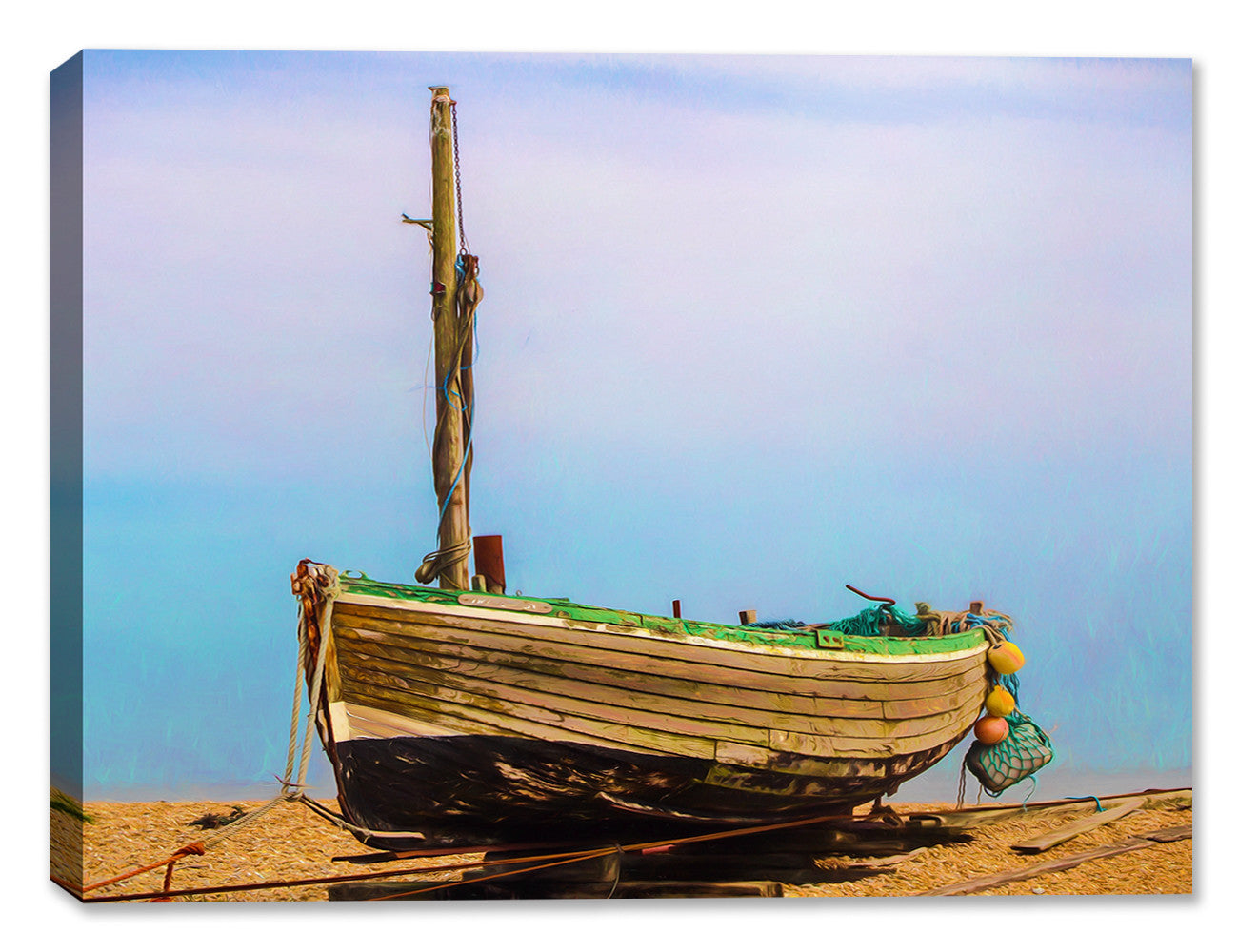 Old Fishing Boat at Dungenes  - Canvas Art Print - Canvas Art Plus