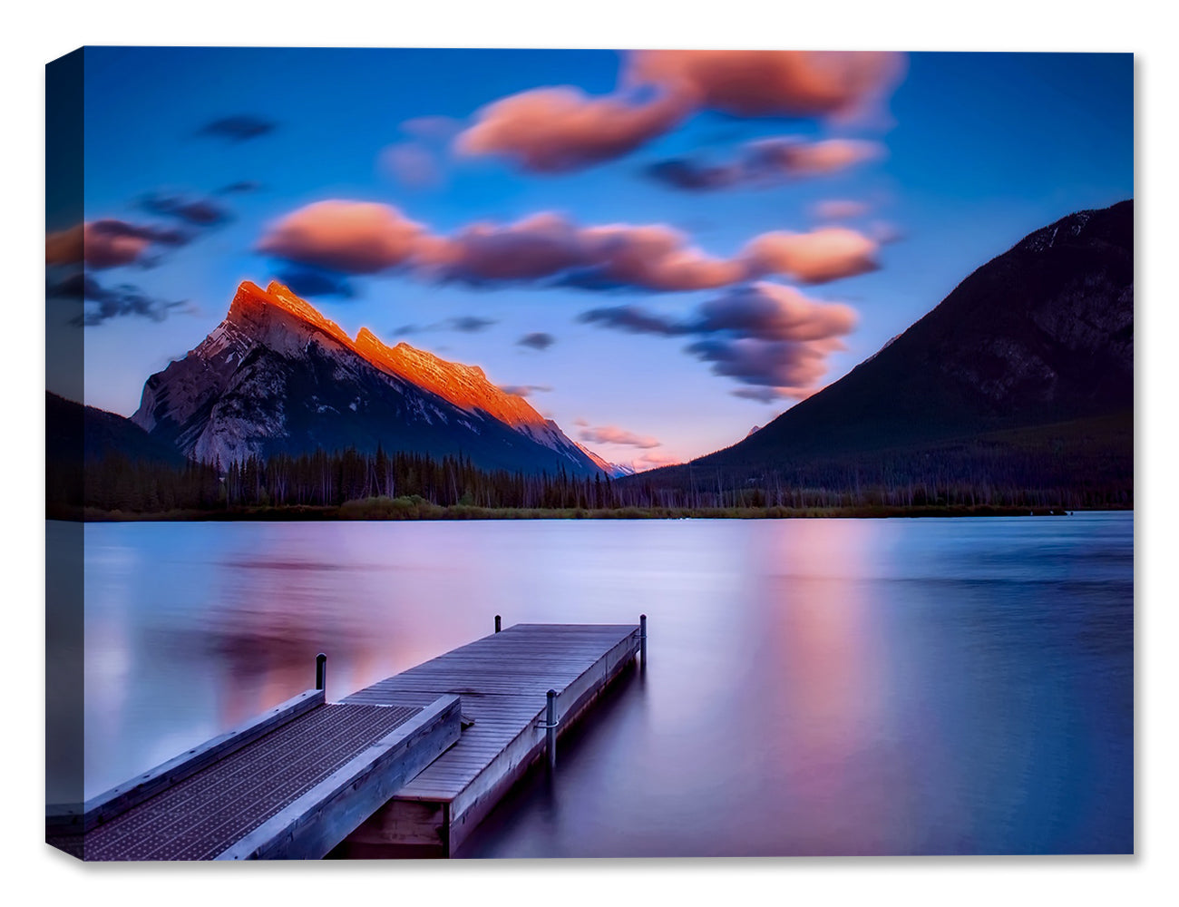 Dock on Still Waters - Canvas Art Print