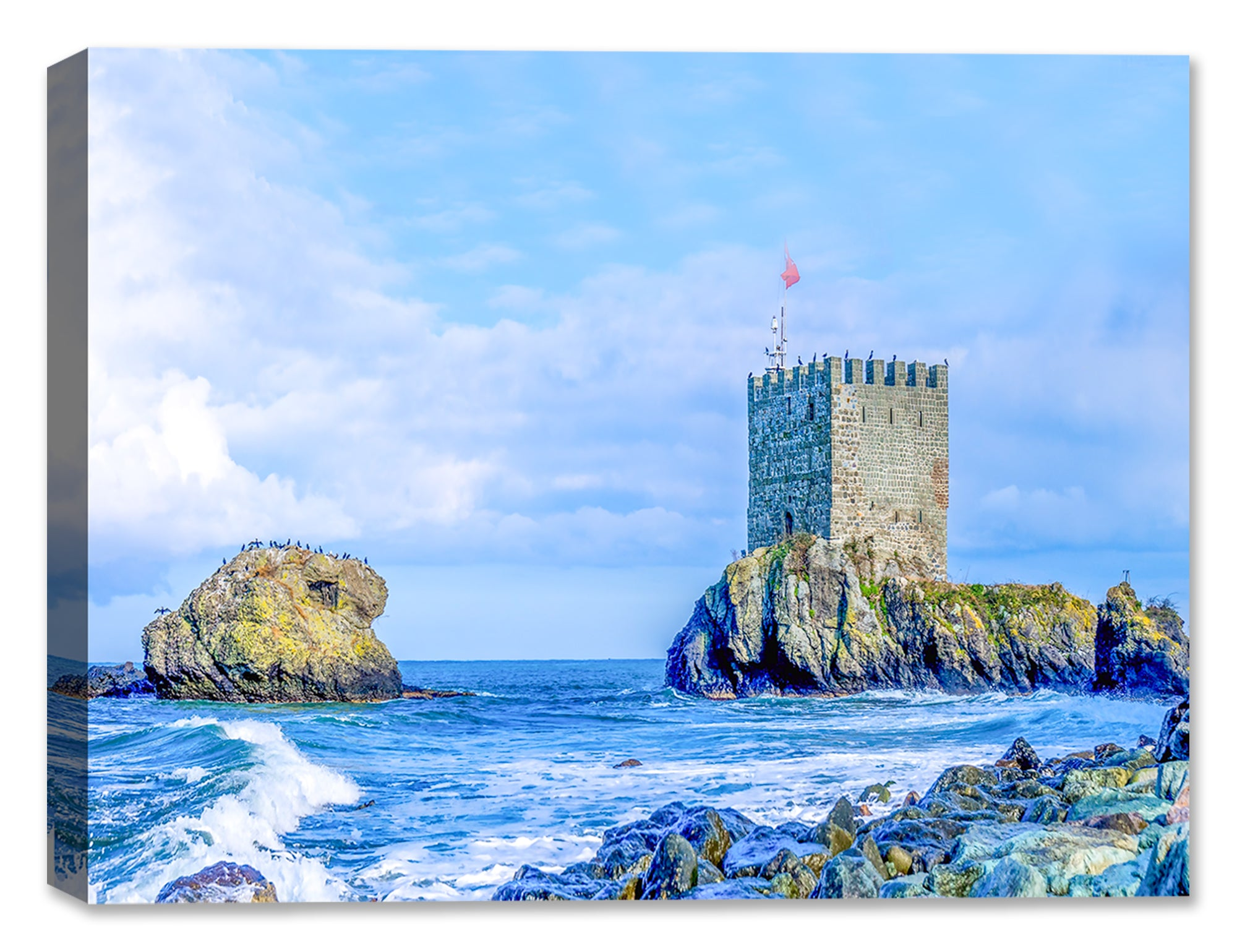 Castle on the Sea Shore - Canvas Art Print