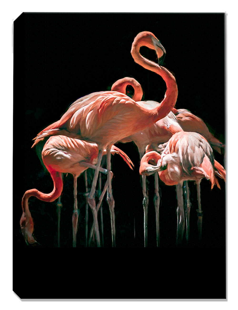 Flamingo Heaven Painting - Canvas Art