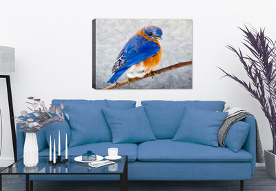 Blue Bird Painting on Canvas