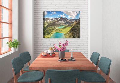 A Walk in the Clouds (Alps) - Canvas Art Painting