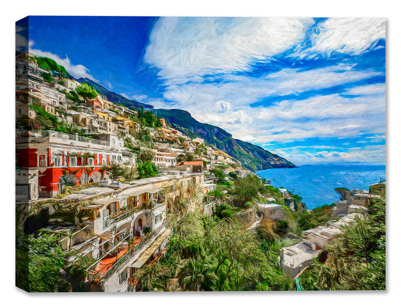 Amalfi Coast in Italy - Canvas Art Painting
