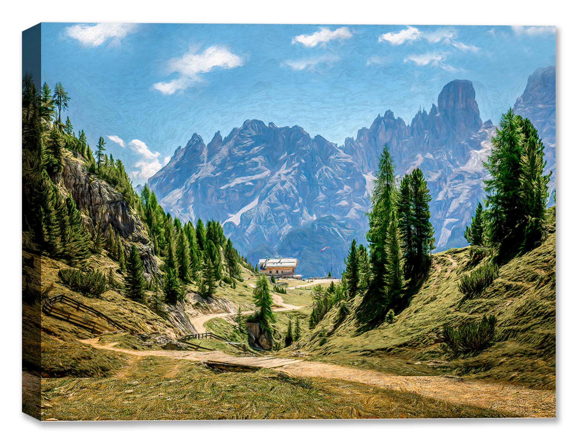 Alpine Way Canvas Art Painting
