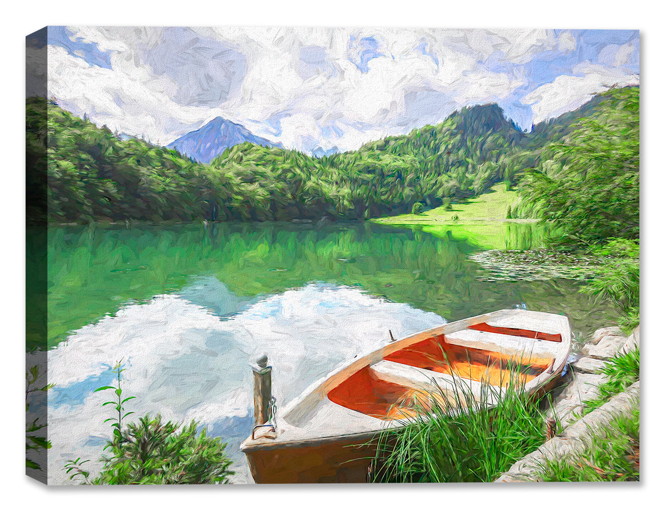 Peaceful Day on the Lake - Fine Art Painting