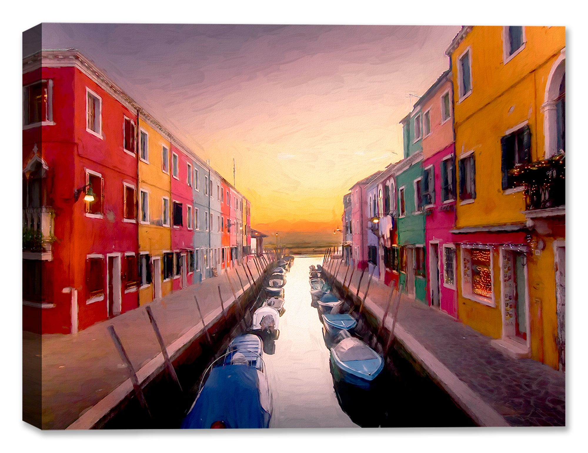 Dusk in Italian Village - Fine Art Painting