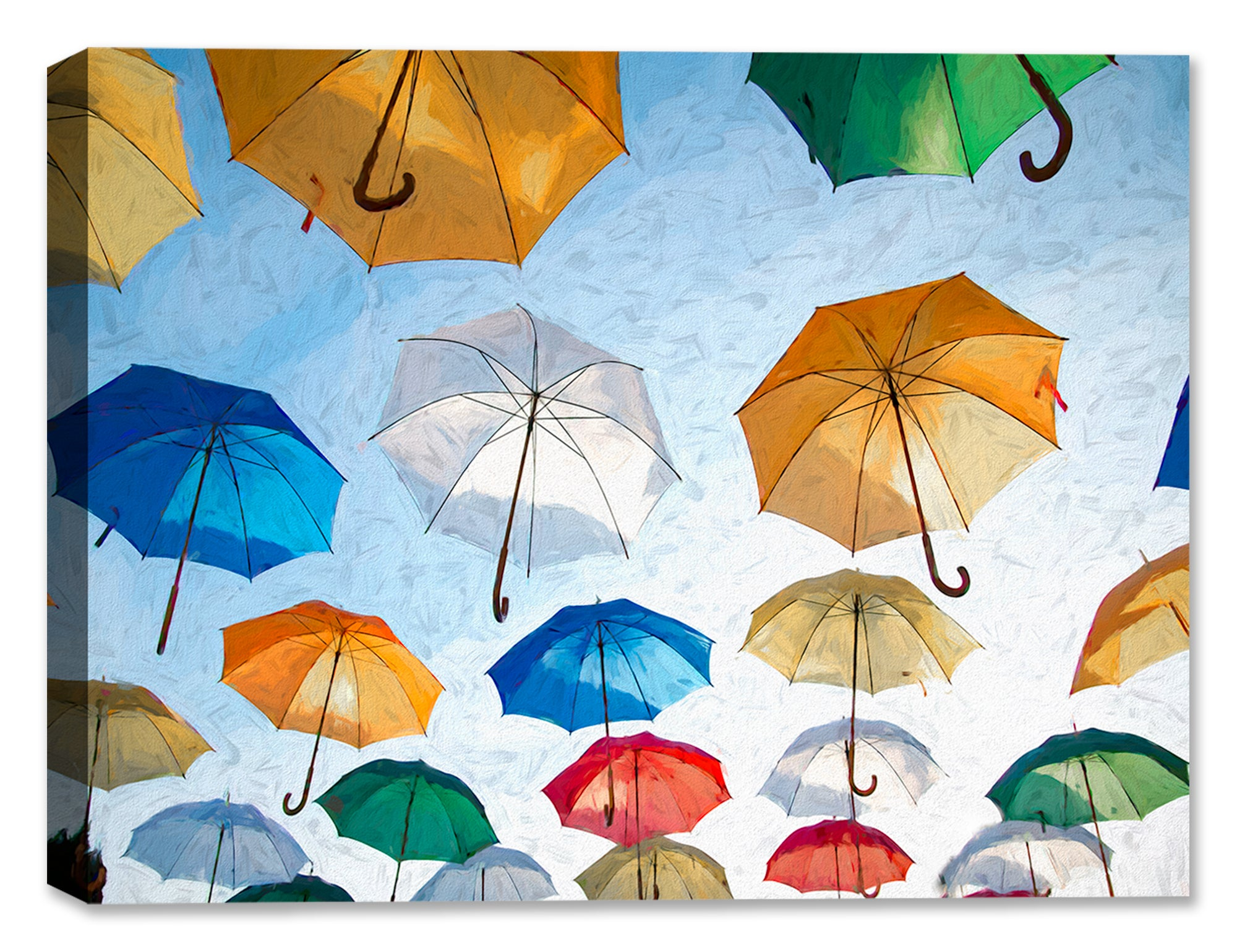 Sunny Day Umbrellas - Fine Art Painting
