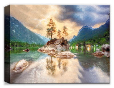Serenity at the Lake - Fine Art Painting
