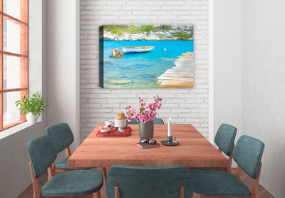 Blue Water Boat Ride  - Fine Art Painting